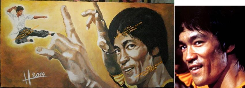 Bruce Lee by lhommeloiret